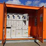 Kiosk substation designed by Teck Global with doors open
