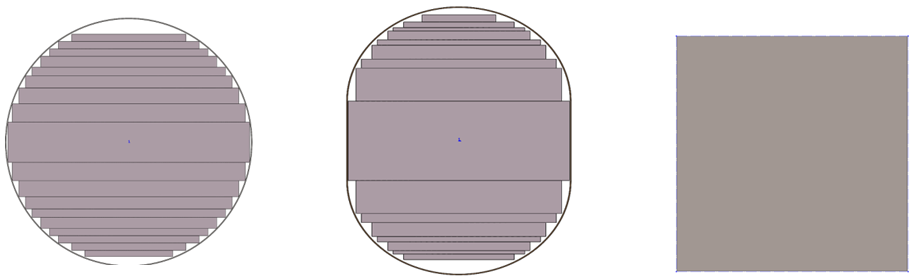 Circular, oblong and rectangular transformer cores and associated air gaps