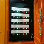 Front of custom control panel designed by Teck Global