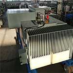 Power distribution transformer after construction