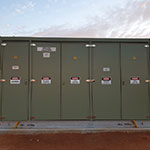 Mobilong Solar Farm electrical cabinets