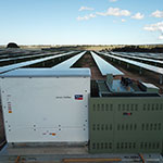 Mobilong Solar Farm SMA inverter with substation from a high angle