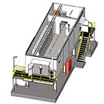 Transportable switchroom from the inside sketch, first angle, by Teck Global
