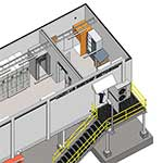 Transportable switchroom from the inside sketch, second angle, by Teck Global
