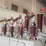 More test leads connected to a power distribution transformer designed by Teck Global